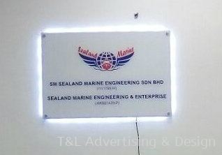 3ft x 2ft 5mm acrylic signage with LED back lighting
