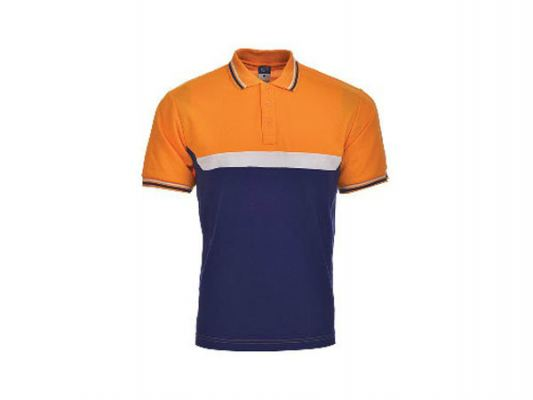 Honeycomb Polo HCP 15 ORANGE/NAVY