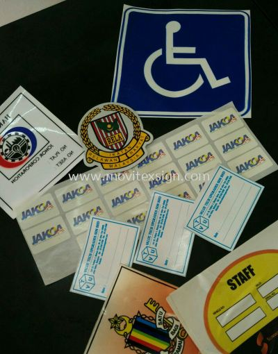 car pass sticker products label, Logo reflaxtive sticker
