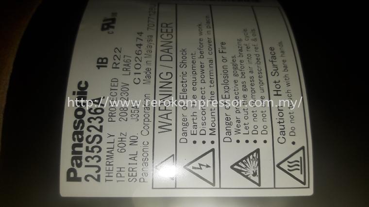 PANASONIC ROTARY COMPRESSOR MODEL:  2J35S236A1B