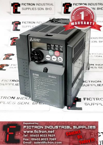 FR-D740-3. 7K-CHT MITSUBISHI Variable Frequency AC Inverter Drive Repair Service Malaysia