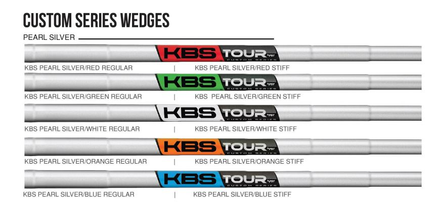 KBS Tour Custom Series Wedges Pearl Silver