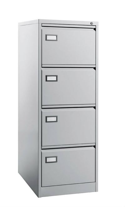 4 Drawer - Filing Cabinet, C/W Goose Neck Handle