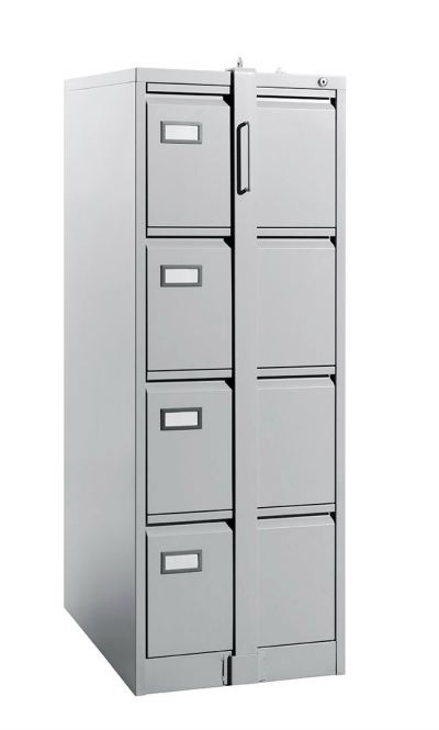 4 Drawer - Filing Cabinet, C/W Goose Neck Handle, C/W LOCKING BAR