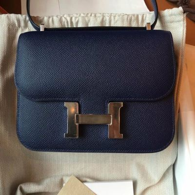 16ae0c98f02 Brand New Hermes Constance 18 Epsom Leather in Sapphire Blue