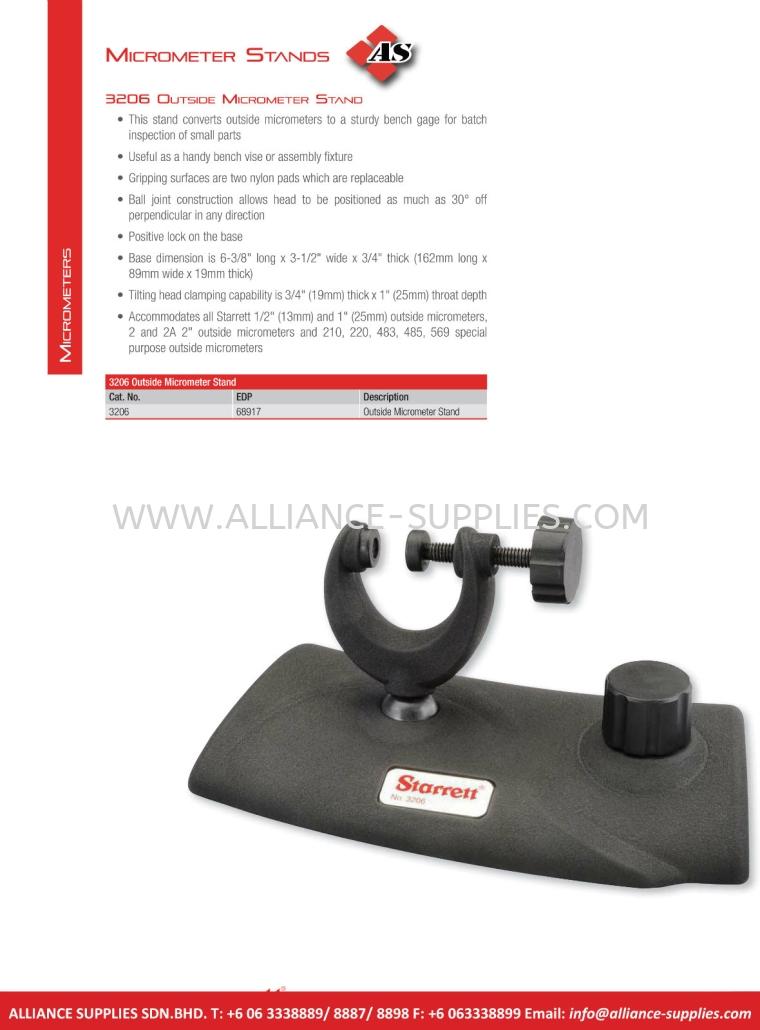 STARRETT Micrometer Stands 5.01 Micrometers 05.STARRETT