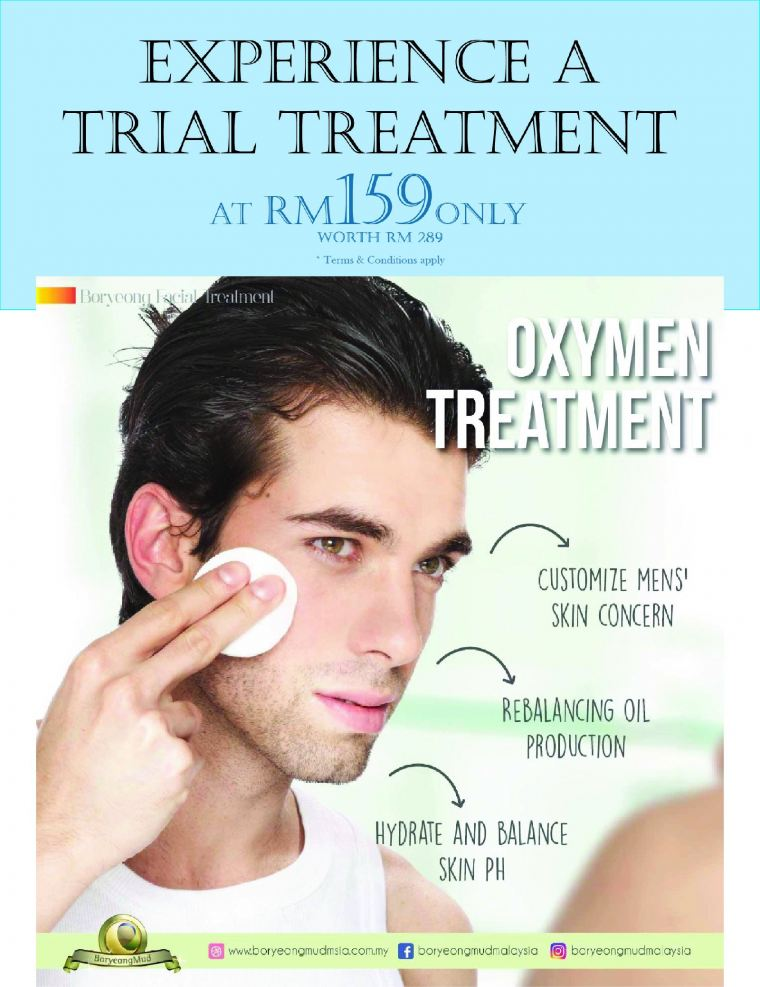 Try out our Oxymen's Facial!