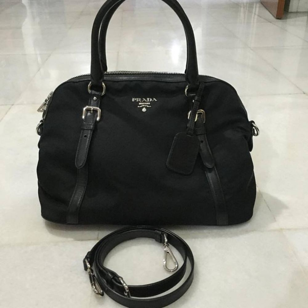 fe34a79deb SOLD) Prada BL0912 Tessuto Nylon Handbag (Few Ways Carry) Prada ...
