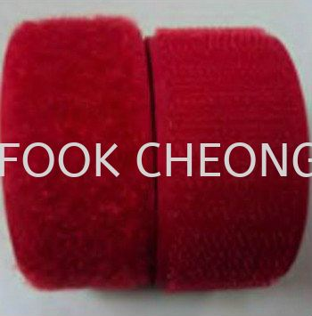 Hook & Loop Fastener Tape (158 Bright Red) B2B Supplier, Distributor, Supply, Supplies  ~ Fook Cheong Trading Sdn Bhd