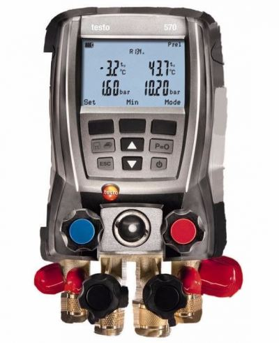 Testo 570-2 Set - Four Way Digital Manifold with Data Logging