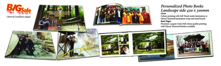 Personalized Photo Books Landscape side 420 x 300mm