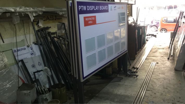 POLY CARBONATE WITH ACRYLIC POSTER- PTW DISPLAY BOARD