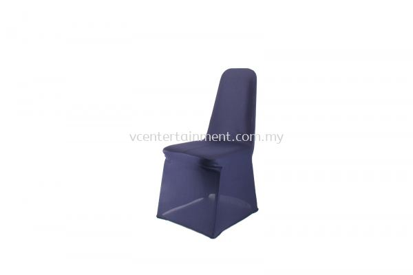 Navy Blue Spandex Banquet Chair Cover