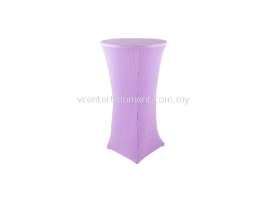 Light Purple Spandex Hi Bar Table Cover