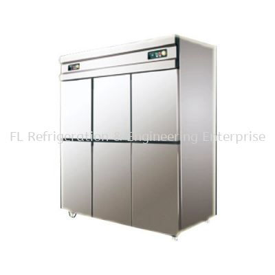 STAINLESS STEEL 6 DOOR UPRIGHT CHILLER