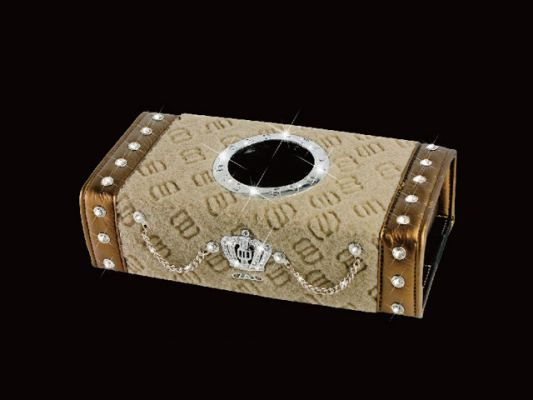 D.A.D CROWN L.E SERIES TISSUE BOX BB09-GOLD