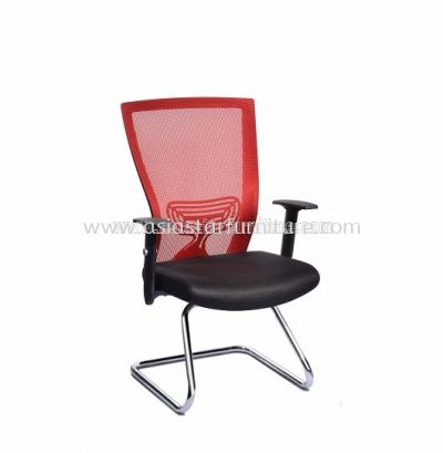 BEVERLY VISITOR MESH CHAIR WITH EPOXY CANTILEVER BASE ABV-B3