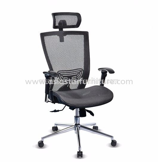 BEVERLY FULL MESH HIGH BACK CHAIR WITH CHROME BASE ABV-D1