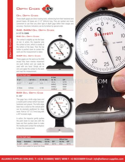 STARRETT Dial Depth Gages