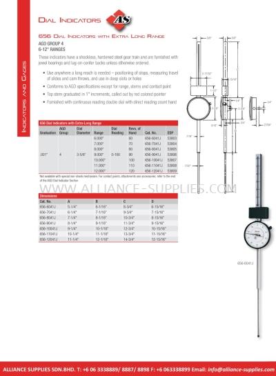 STARRETT Dial Indicators with Extra Long Range