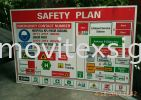 safety signboard/emergency floor plan signage for every entrance. Before u entering the factory. when fire outbreak u know where u are to Exit? safety sign sample