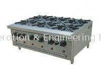 B60 6 OPEN BURNER STOVE