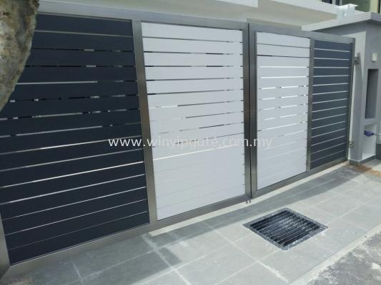 Stainless Steel Swing Gate With Full Aluminium