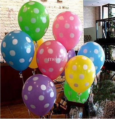 100pcs Polka Dot Latex Balloons - 2102 0201 01