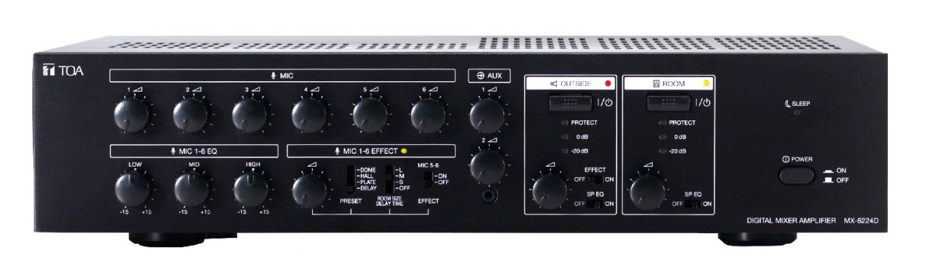 MX-6224D.Digital Mixer Amplifier