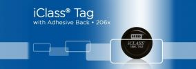 206x iCLASS Tag with Adhesive Back ACCESSORIES ENTRYPASS DOOR ACCESS SYSTEM