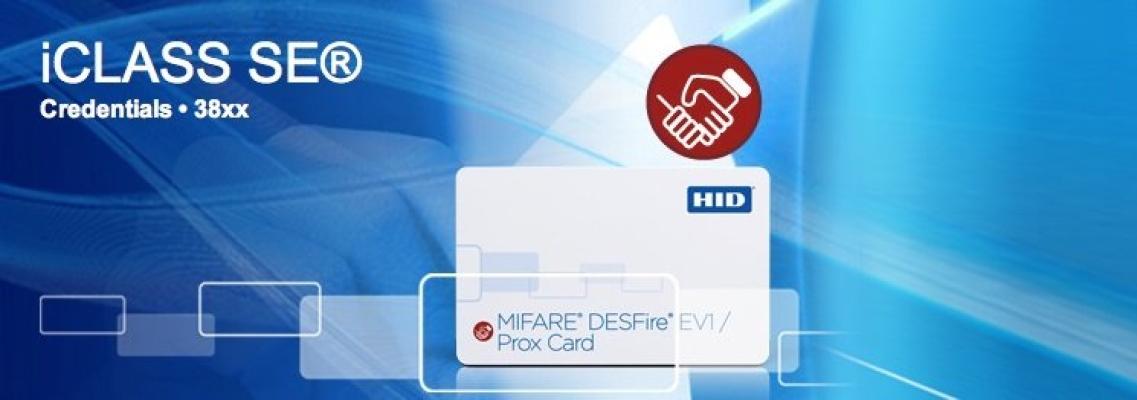 38xx SIO-Enabled MIFARE DESFire EV1 + Prox Card