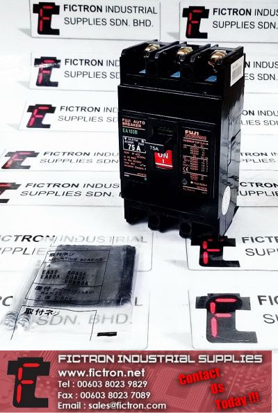 BB3BEB-075 EA103B FAB FUJI AUTO-BREAKER 3Ph 75A Ue 550VAC Molded-Case Circuit Breaker Supply Malaysia Singapore Thailand Indonesia Europe & USA