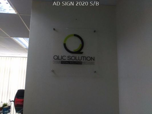 Acrylic signage office