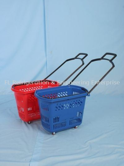 SHOPPING BASKET WITH ROLLER