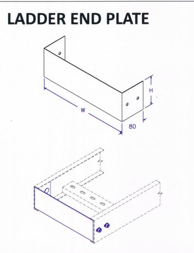 Ladder Accessories - Ladder End Plate