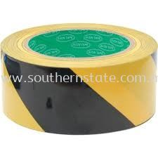 75mmx33mm HAZARD MARKING TAPE BLACK/YELLOW ADHESIVE