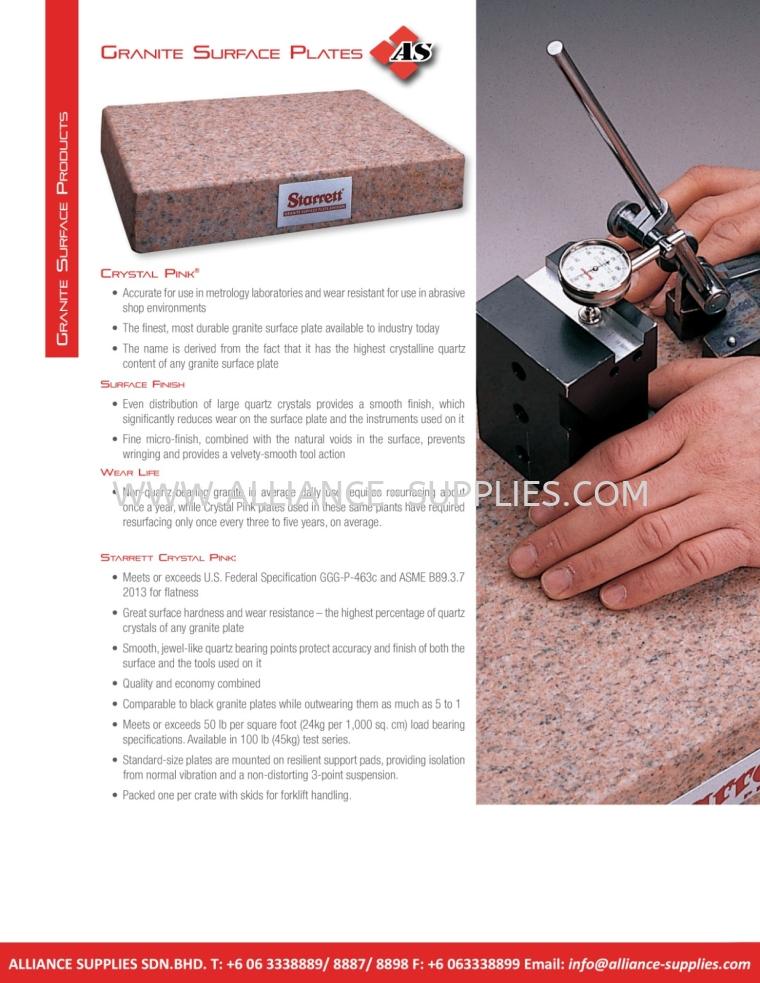 STARRETT  Granite Surface Plates 5.20 Granite Surface Products 05.STARRETT