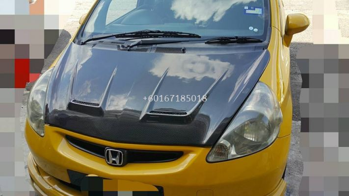 2003 2004 2005 2006 2007 honda jazz fit gd hood bonet js racing style for jazz fit gd replace upgrade performance look real carbon fiber material new set
