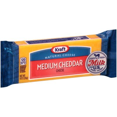 Kraft Medium Cheddar Chunk - Resealable