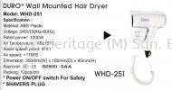 WHD-251 HAIR DRYER HAIR DRYER AND HAND DRYER