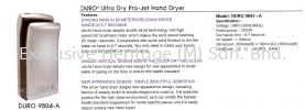 DURO 9804-A HAND DRYER HAIR DRYER AND HAND DRYER