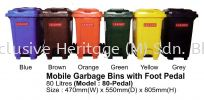80-Pedal MOBILE GARBAGE BINS WITH FOOT PEDAL MOBILE GARBAGE BINS AND FOOT PEDAL BINS