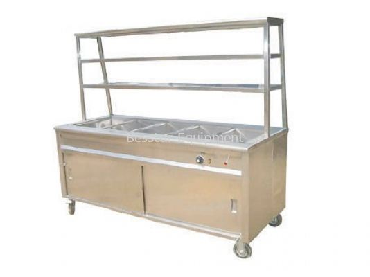Bain Marie with 2 Tier Overshelf