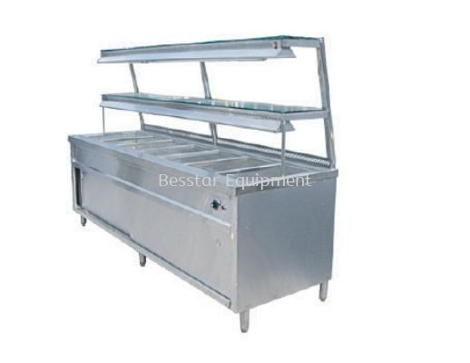 Bain Marie with 2 Tier Special Glass Shelf