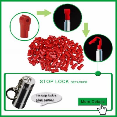 777001RD-5MM HOOK LOCK-10PC (RED)
