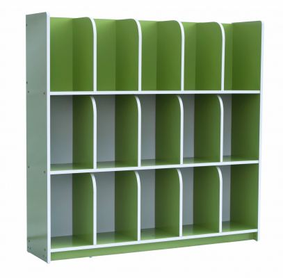 QU006-CG Economy Bag Cubby Shelf - Green