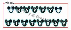Mickey Mouse Happy Birthday Banner Banner