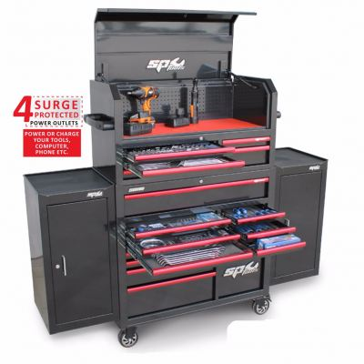 SP50555 530pc Metric-SAE Sumo Series Power Hutch Tool Kit with Dual Side Cabinet