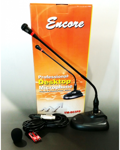 ENCORE TM-803PPProfessional Desktop Microphone (Phantom Power /  Battery)