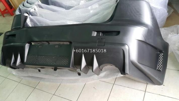 mitsubishi lancer ex bodykit fq400 rear bumper pp material new